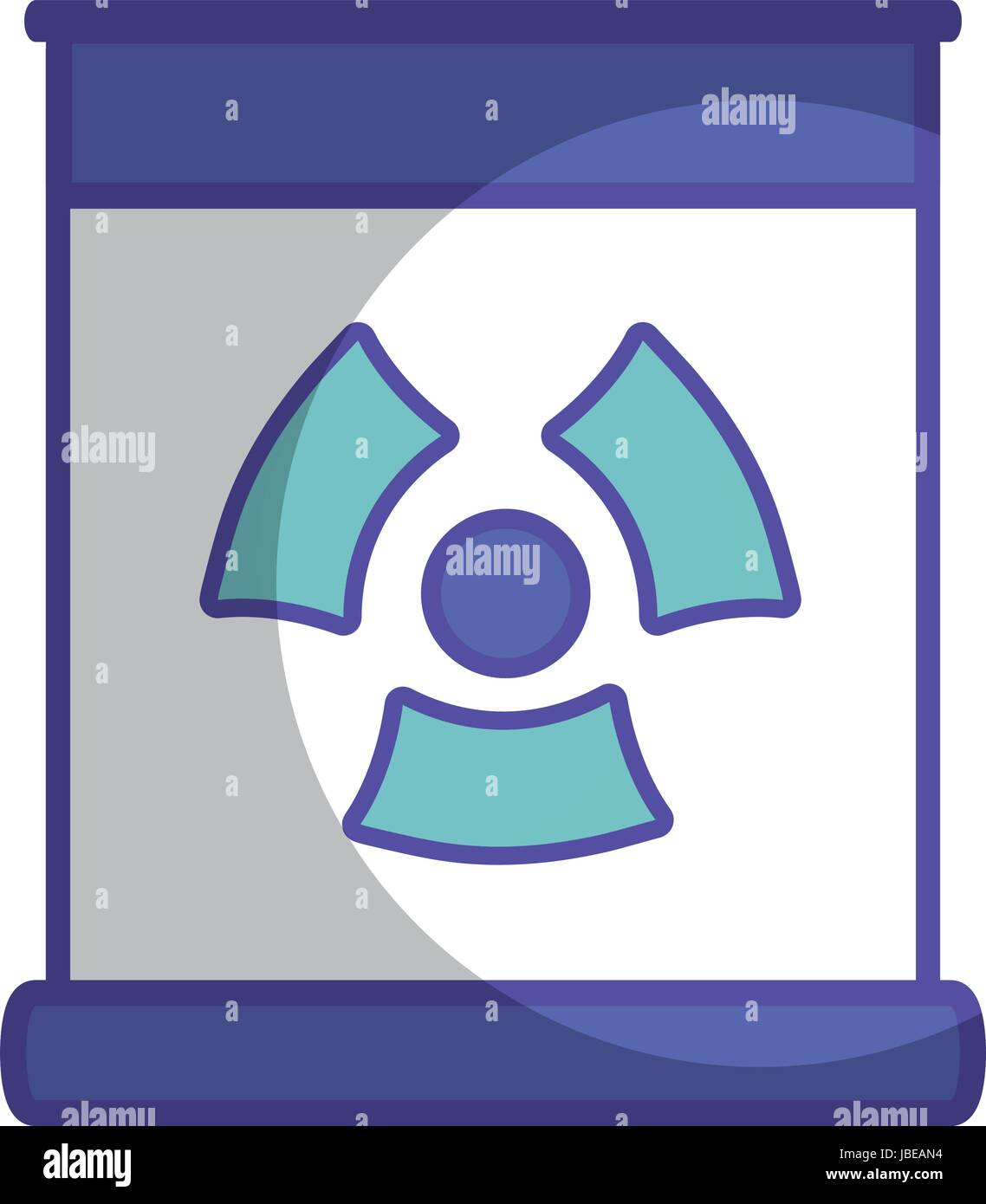 poster with radiation symbol of danger - Stock Vector