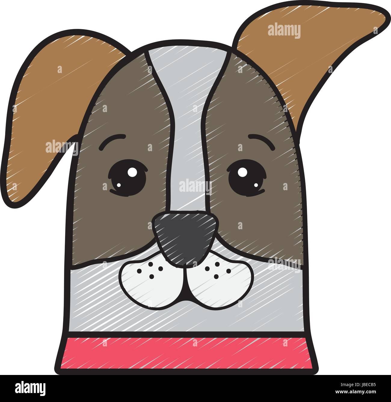 nice dog a domestic mammal animal - Stock Vector