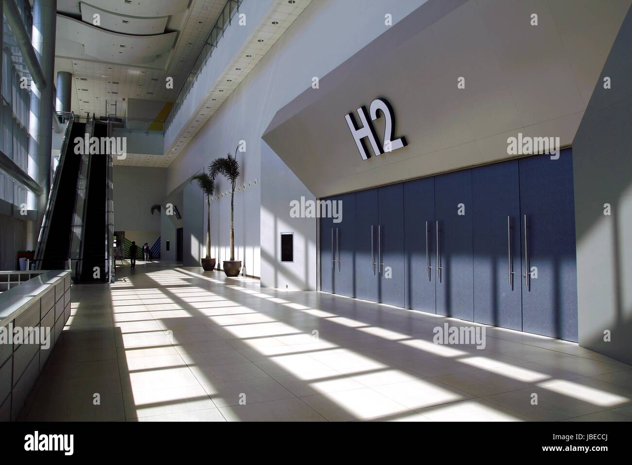 PASAY CITY, PHILIPPINES - MAY 3, 2016: Hallway inside the ground floor of the SMX Convention Center in Pasay City, - Stock Image