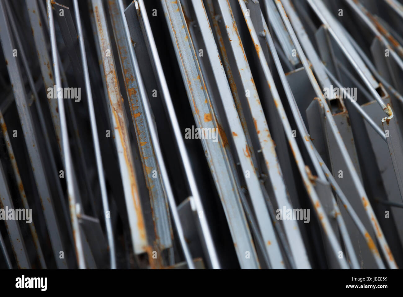 Angles & square bars for construction sites. - Stock Image