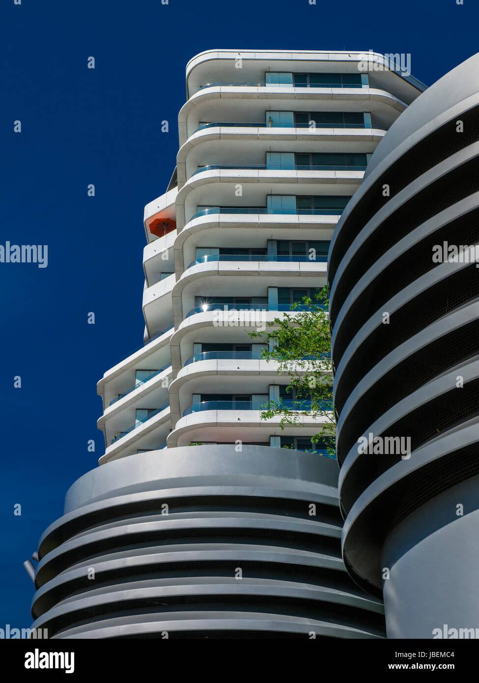 Marco-Polo-Tower in Hamburg Hafencity, Germany Stock Photo ...