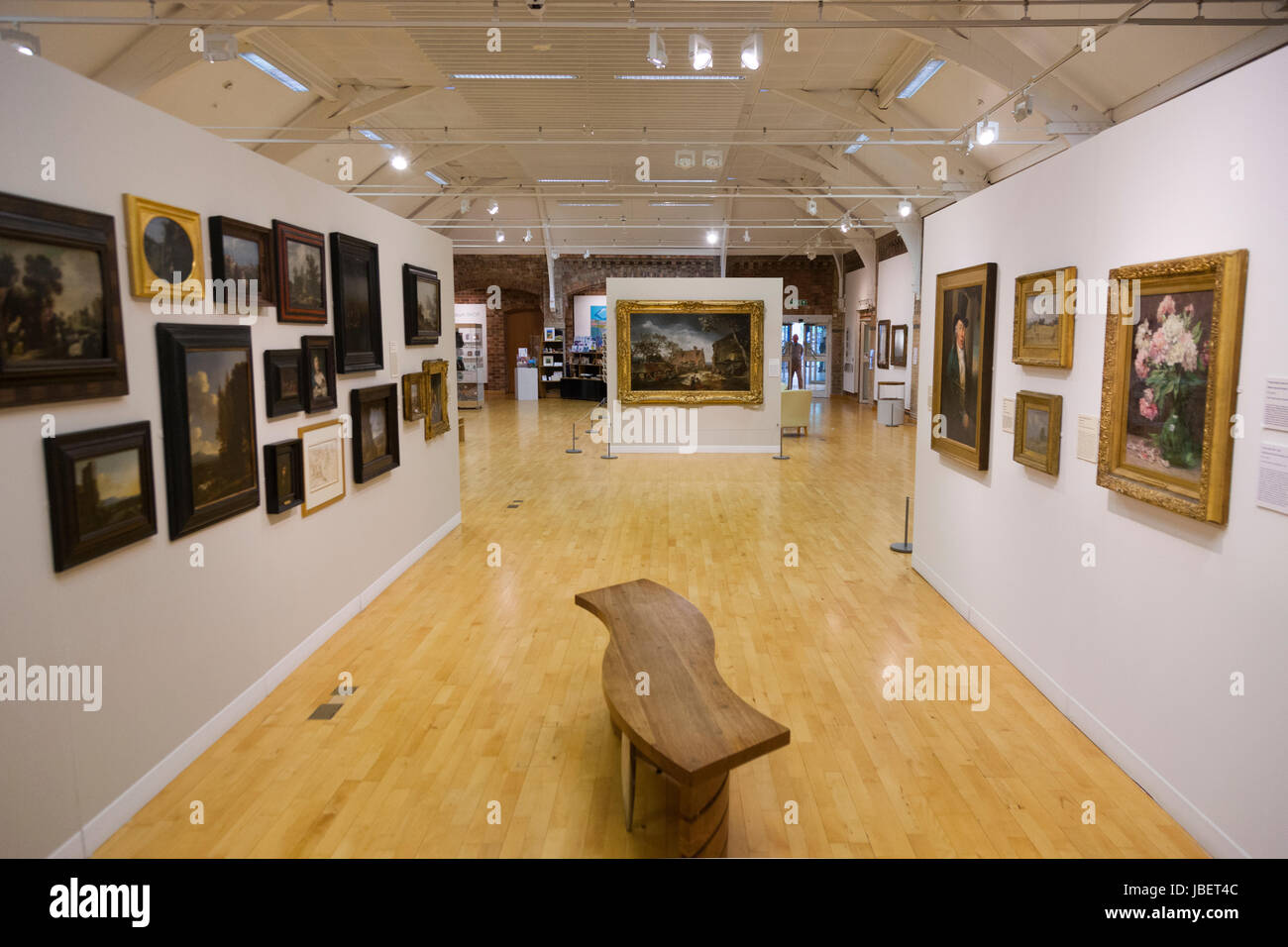 Interior / inside the Leamington Spa Art Gallery & Museum at the Royal Pump Rooms and Baths, Leamington Spa. - Stock Image