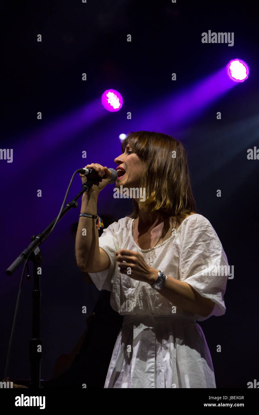 Broken Social Scene performing at Field Trip Music & Arts Festival 2017 featuring Feist, Amy Milan of STARS - Stock Image
