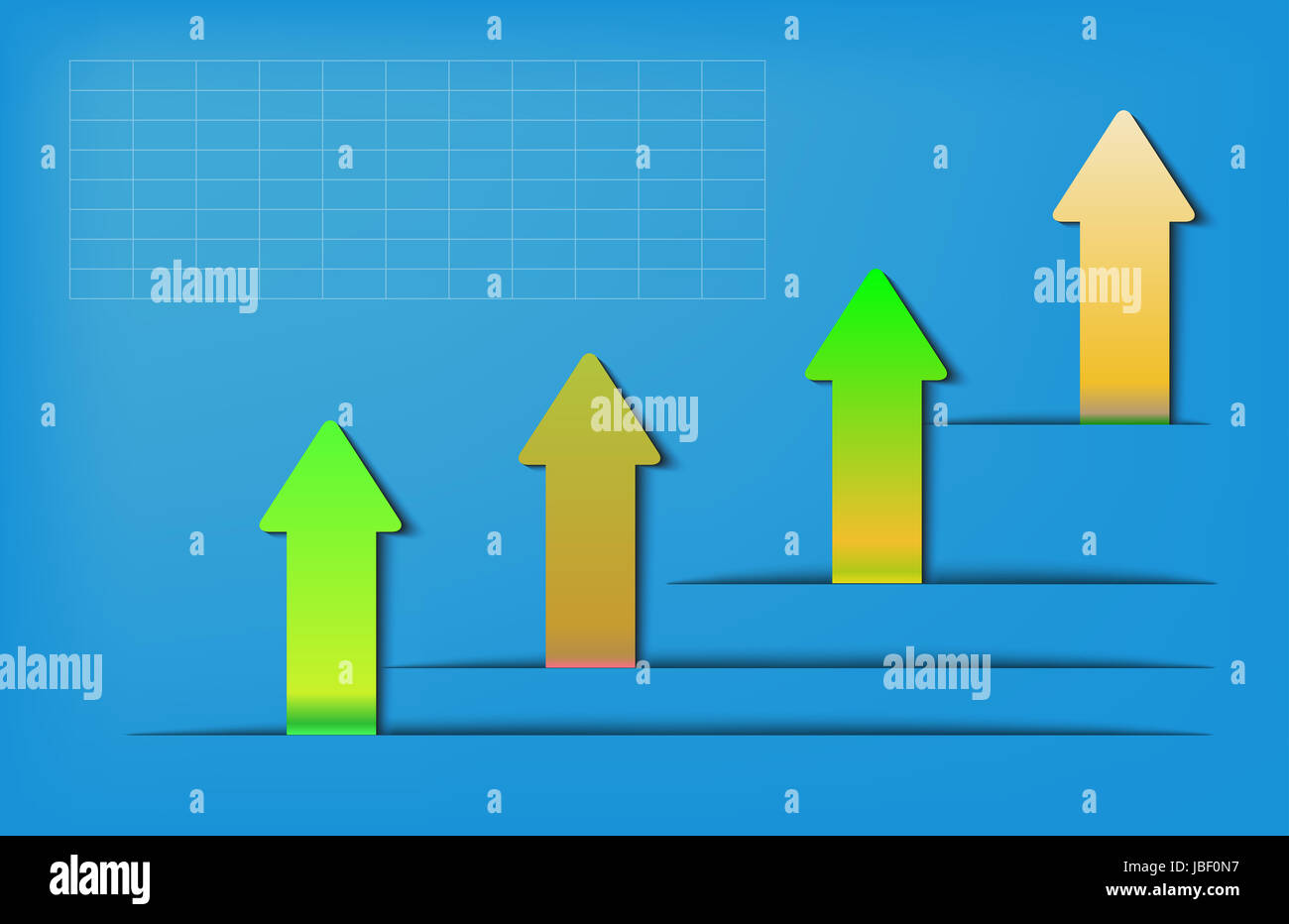 arrow shaddow - Stock Image