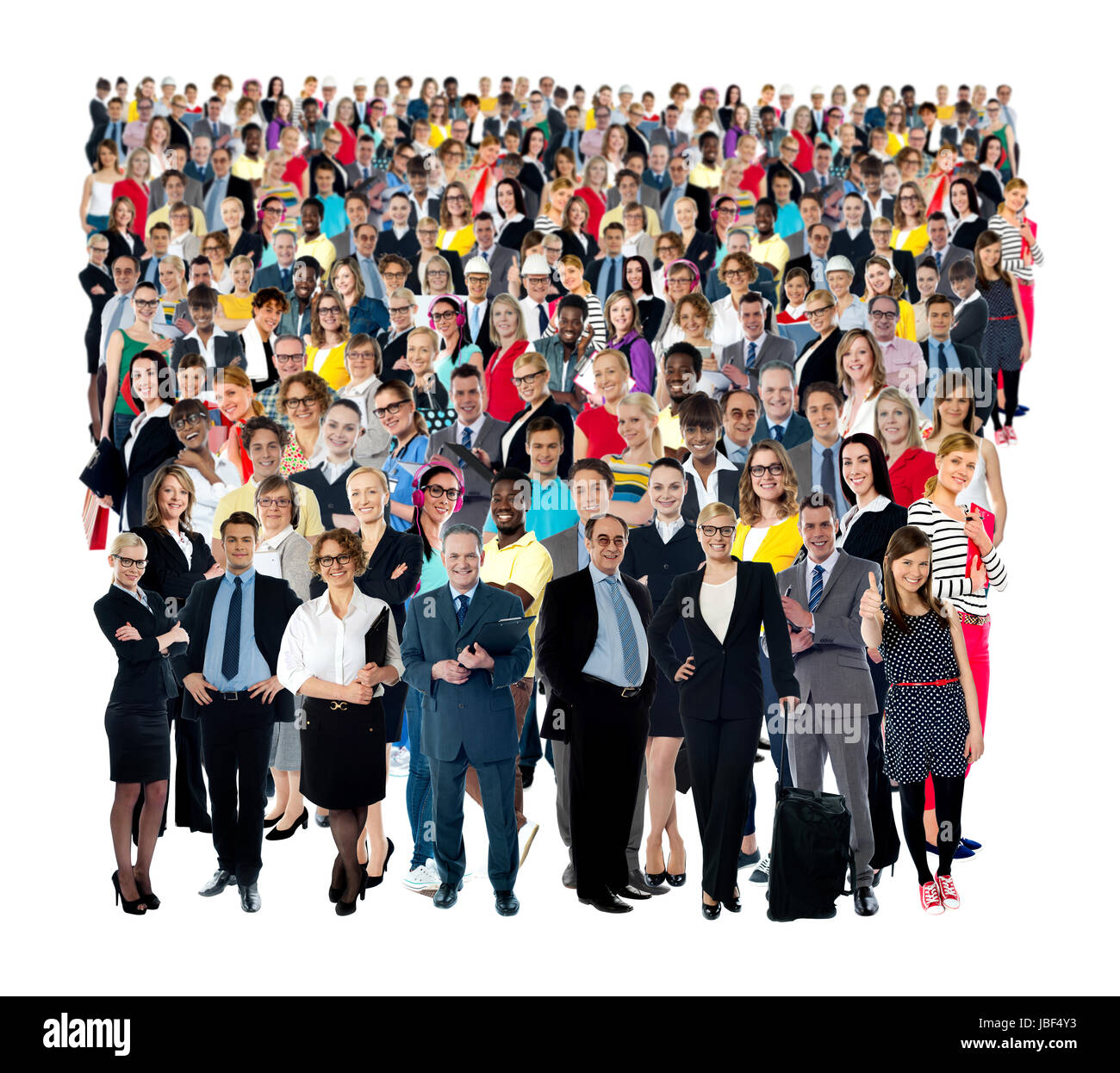 Collage of various people belonging to different industries, cultures and ethnicity. - Stock Image