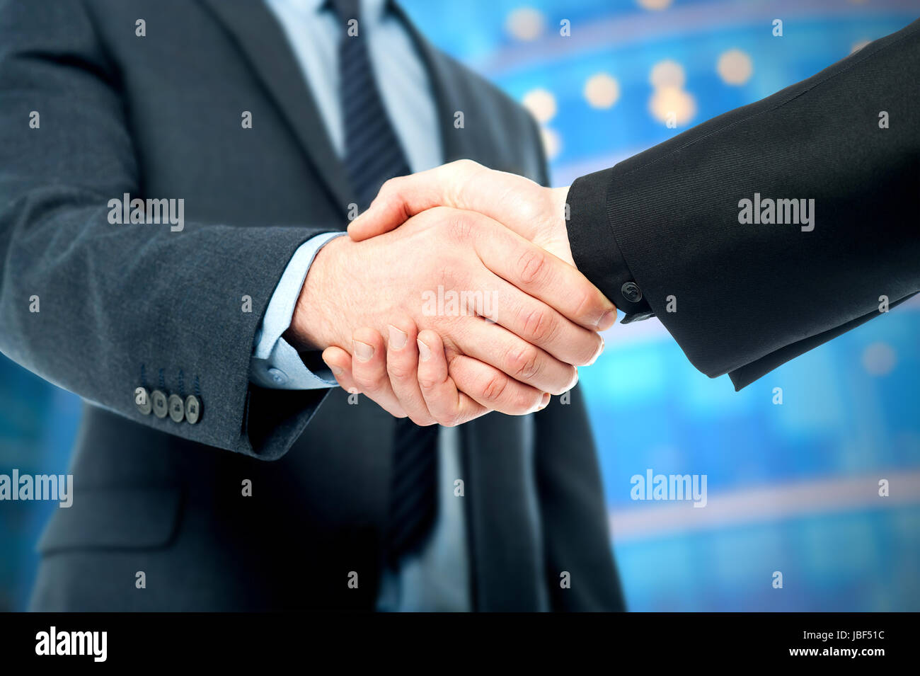 Business handshake, the deal Is finalized - Stock Image