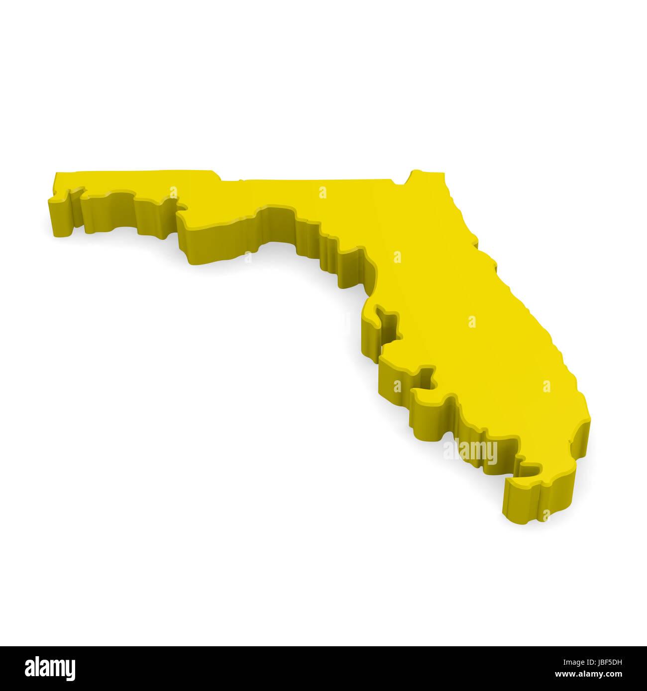 3d map of Florida Stock Photo: 144777741   Alamy