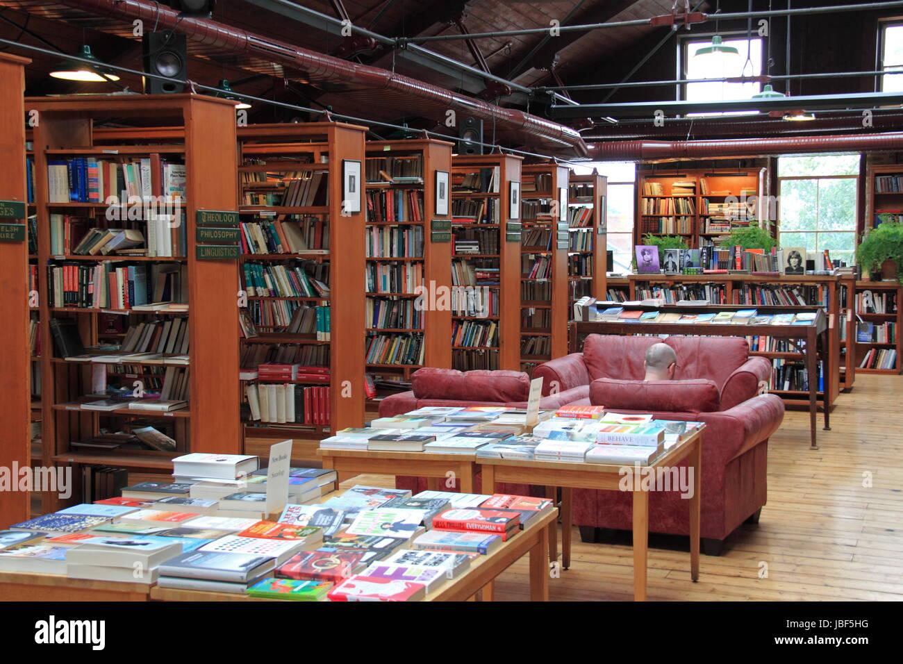 Richard Booth's Bookshop, Lion Street, Hay-on-Wye, Brecknockshire, Powys, Wales, Great Britain, United Kingdom, - Stock Image