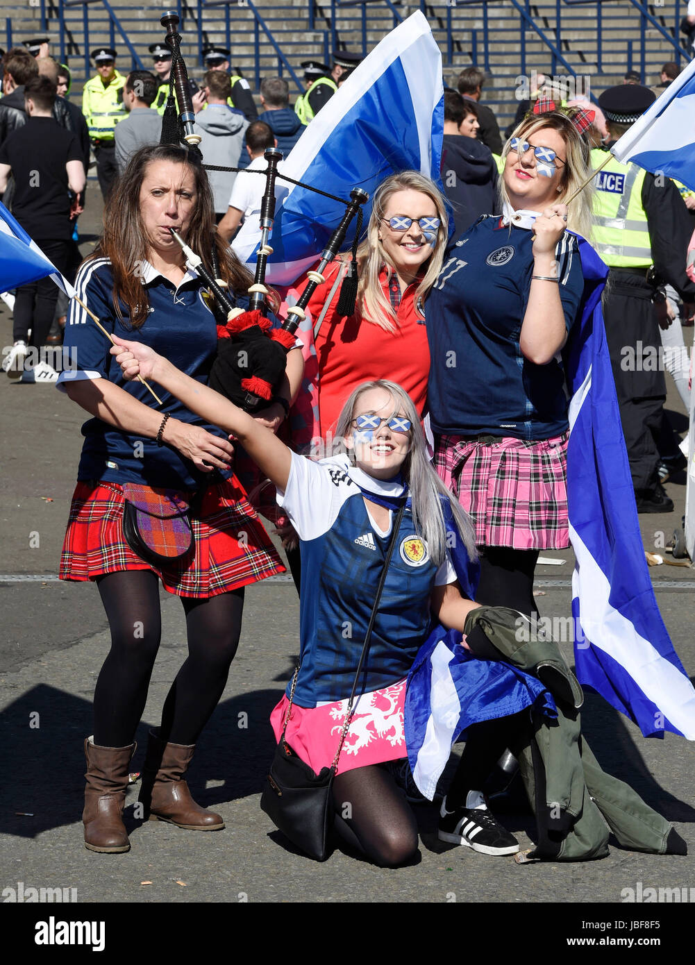 Scotland Fans Ahead Of The 2018 Fifa World Cup Qualifying Group F Match At Hampden Park Glasgow Press Association Photo Picture Date Saay June 10