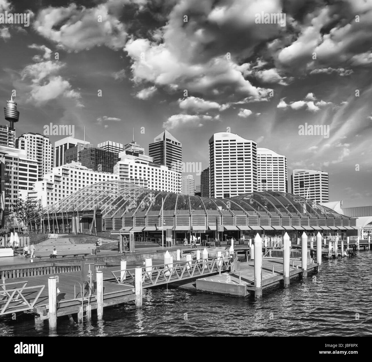 Beautiful skyline of Sydney with city skyscrapers. - Stock Image