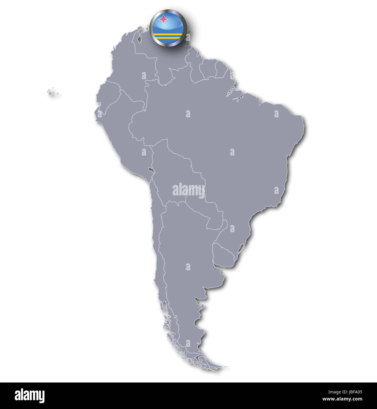 south america map with aruba Stock Photo: 144781285 - Alamy