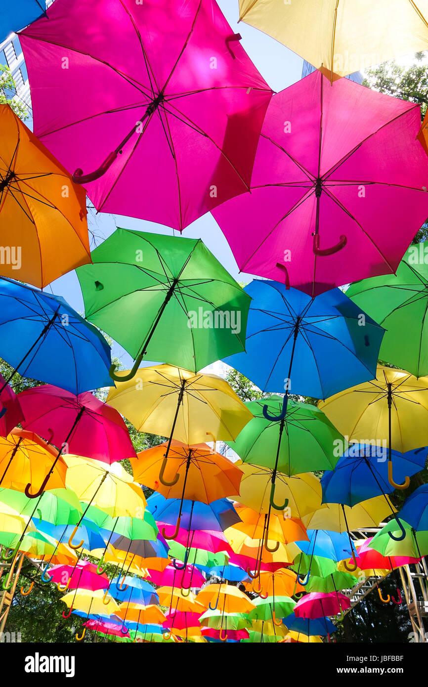 Colorful umbrellas Stock Photo: 144782387 - Alamy
