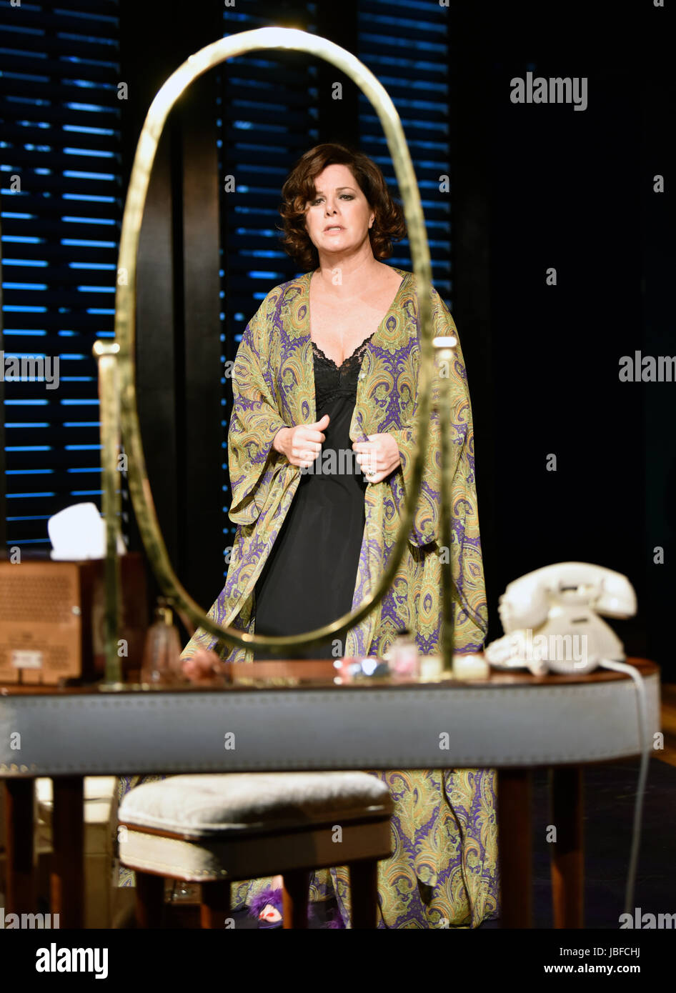 Marcia Gay Harden in the role of The Princess Kosmonopolis aka Alexandra del Lago, in a scene from Tennessee Williams' - Stock Image