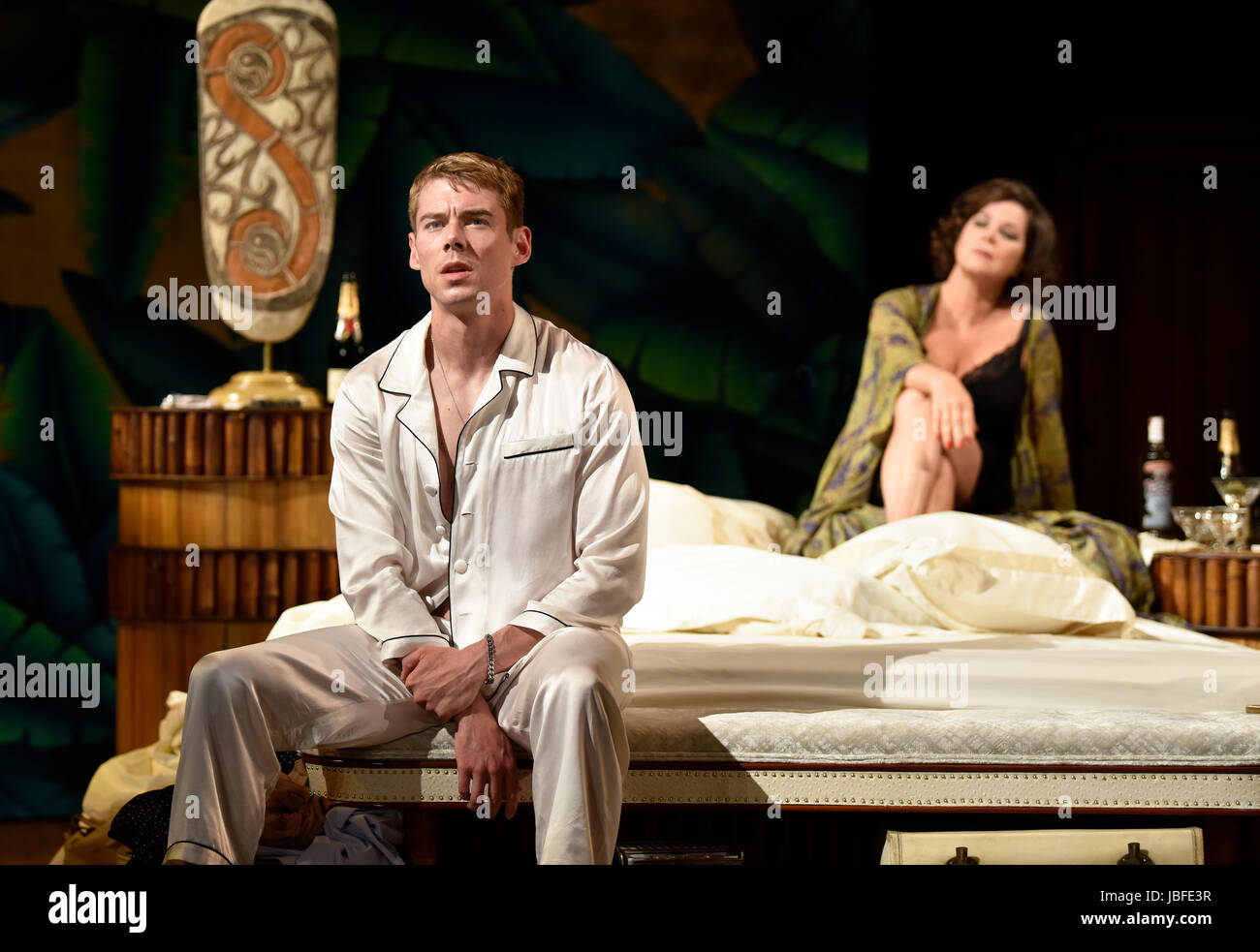 Marcia Gay Harden in the role of The Princess Kosmonopolis aka Alexandra del Lago & Brian J. Smith playing Chance Stock Photo