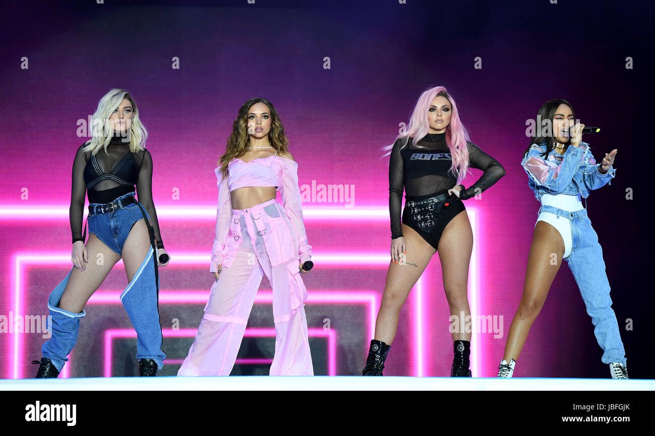 Left To Right Perrie Edwards Jade Thirlwall Jesy Nelson And