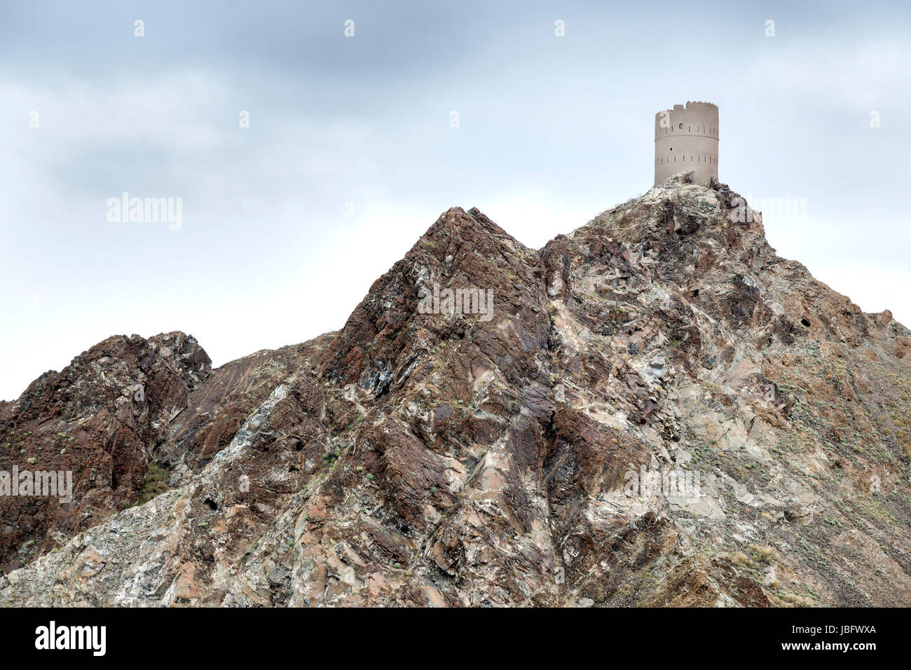 Picture of a historic tower in Muscat, Oman Stock Photo