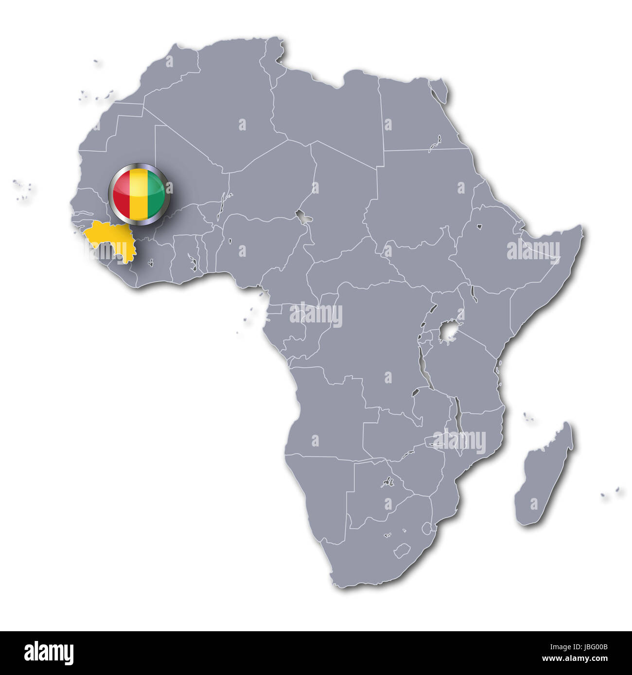 africa map with guinea Stock Photo: 144795403   Alamy