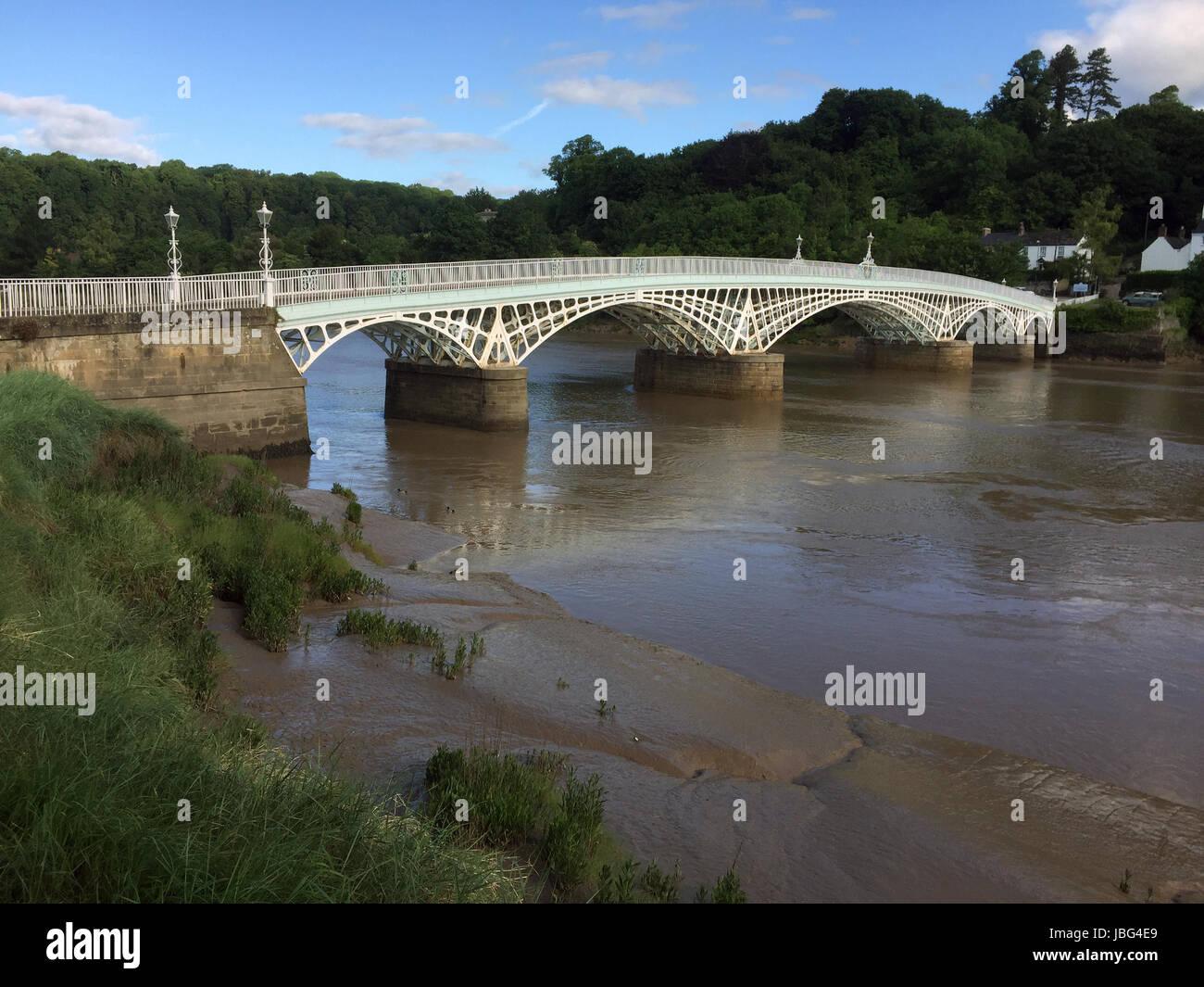 CHEPSTOW ROAD BRIDGE across the Wye built in 1816. Photo: Tony Gale Stock Photo