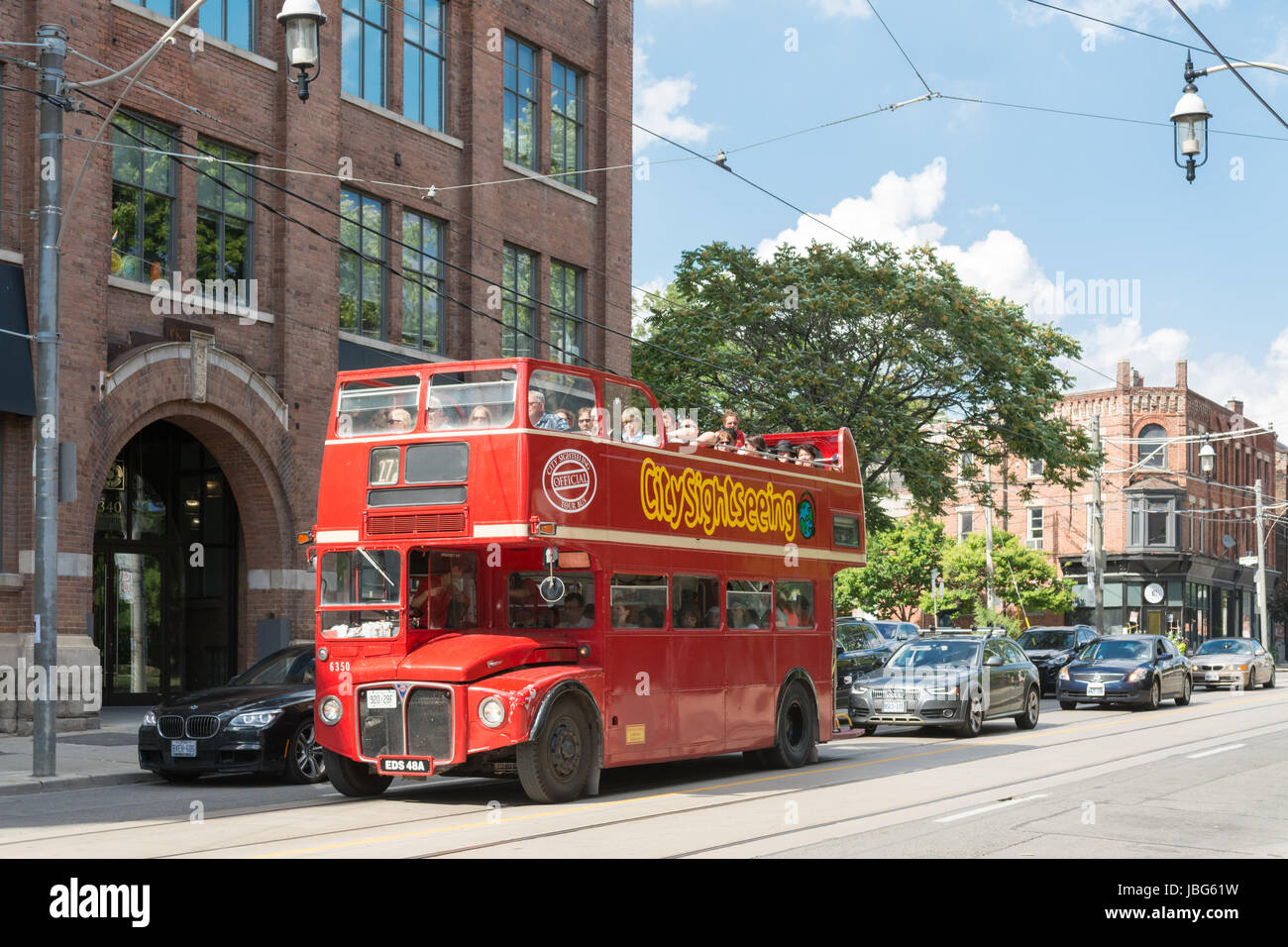 Toronto city sightseeing bus - Stock Image