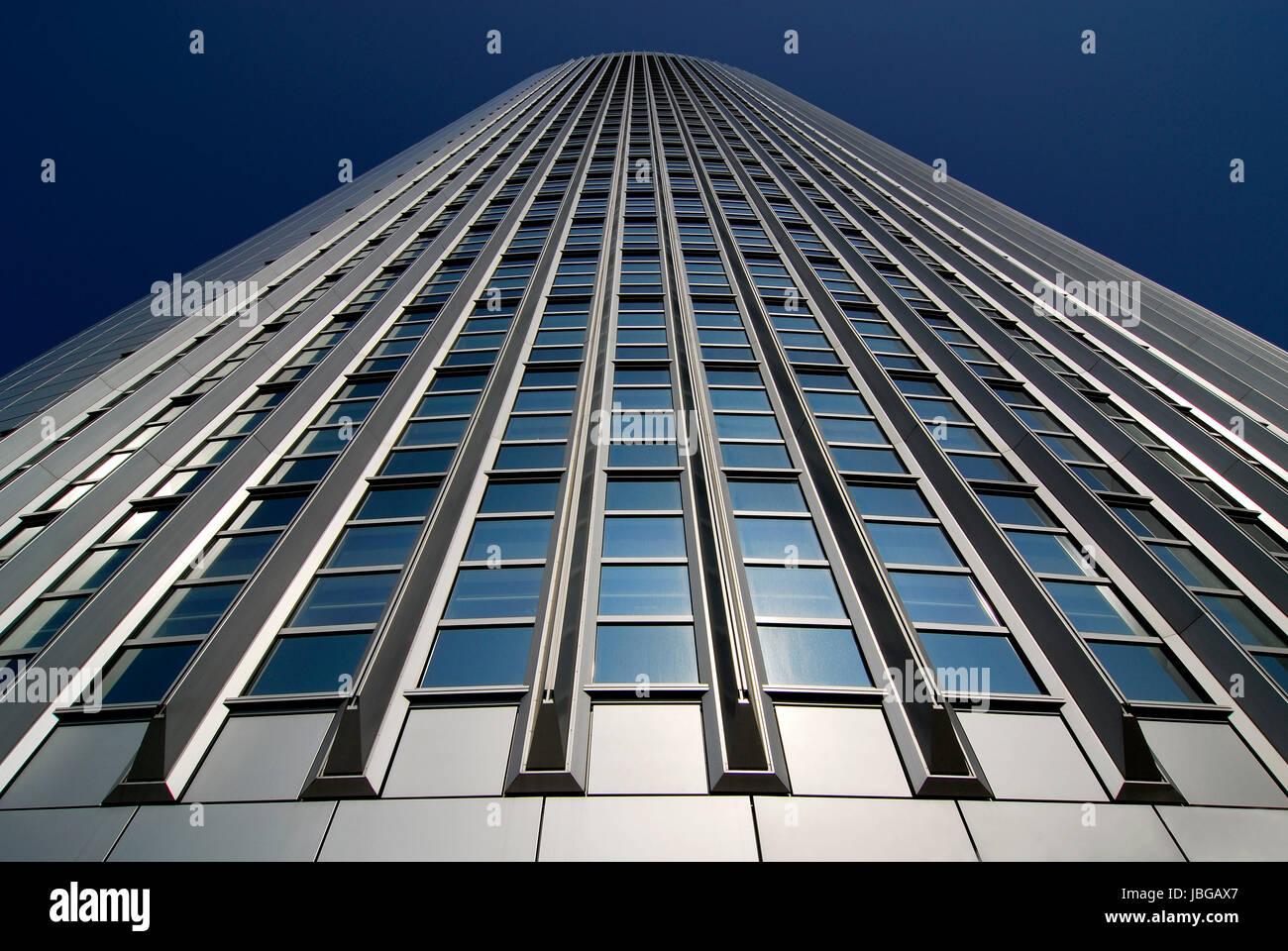 facade of a skyscraper - Stock Image