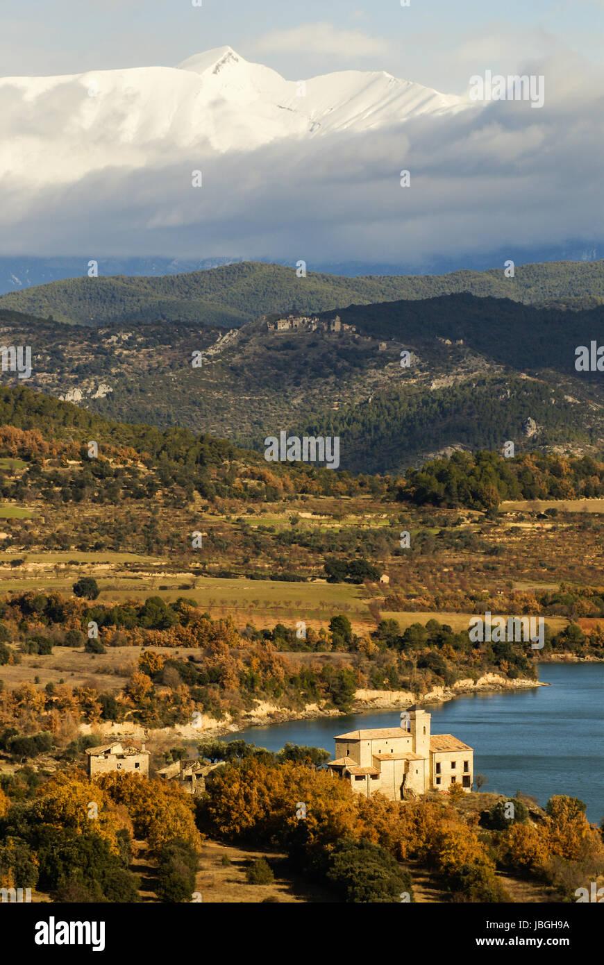 Mountain Lake in Pyrenees,Huesca,Spain Stock Photo