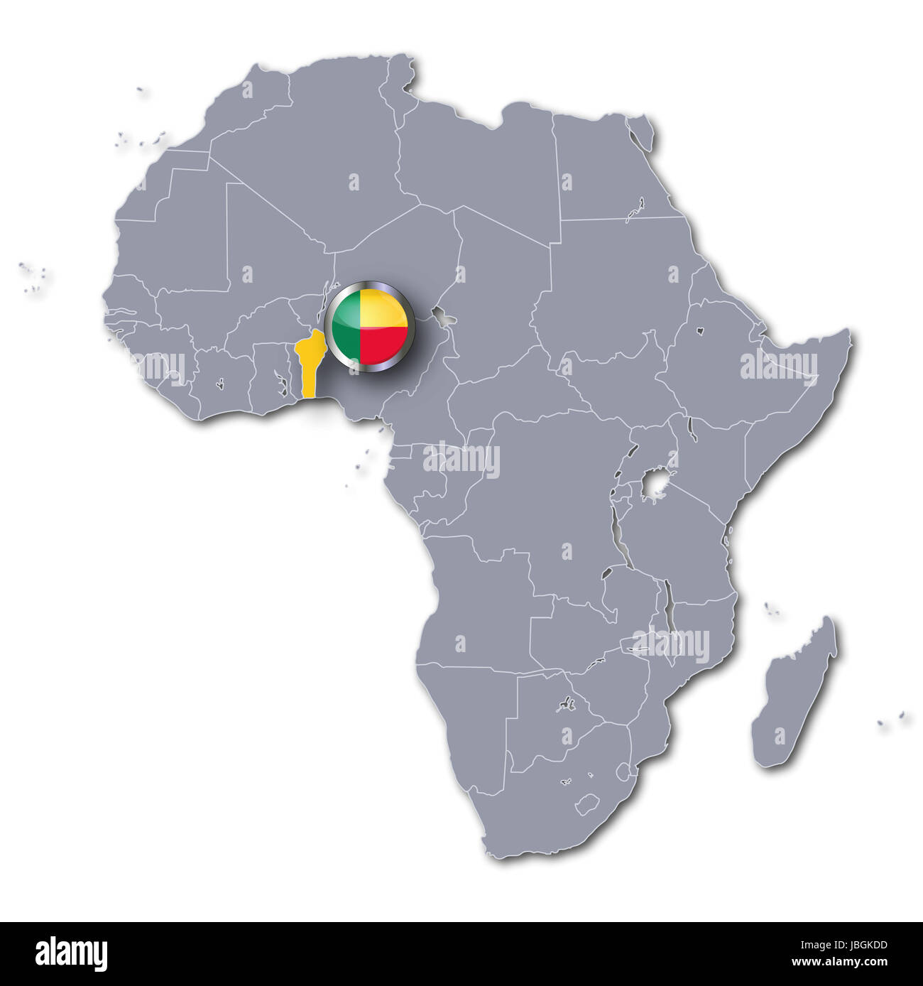 Benin Map In Africa.Africa Map Of Benin Stock Photo 144810665 Alamy
