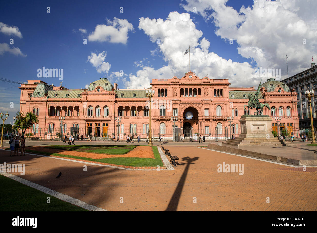 Presidental Palace where Evita Parone gave her famous speech in Buenos Aires, Argentina - Stock Image