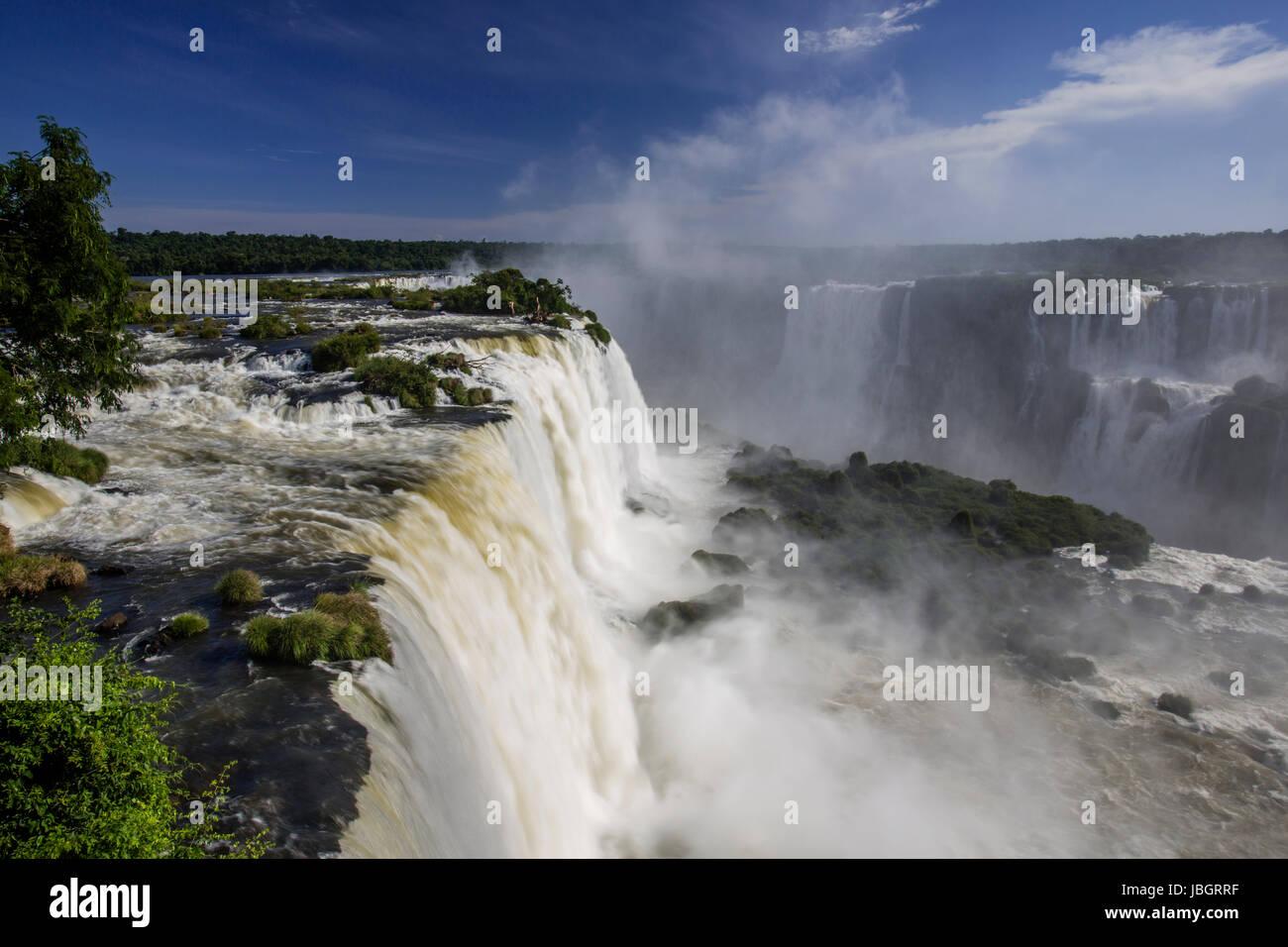 Iguassu Falls Argentina and Brazil Stock Photo