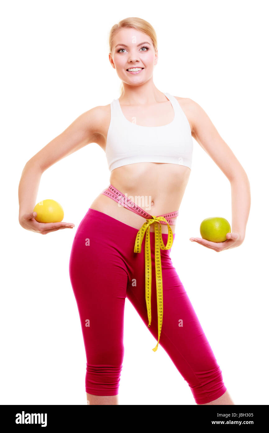 Diet. Health care and healthy nutrition. Fit girl fitness woman ...