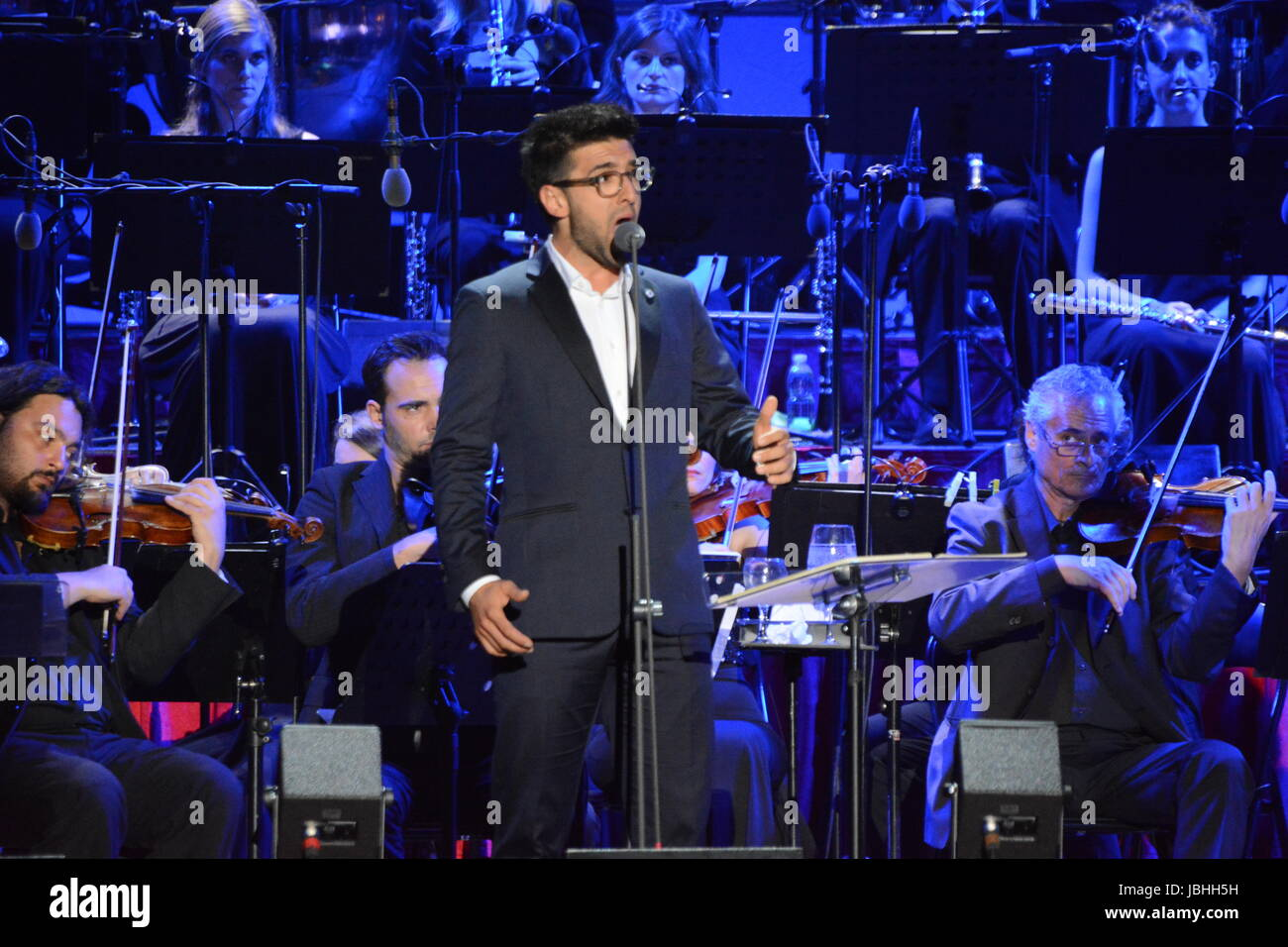 """Naples, Italy. 10rd June, 2017. Il Volo performing for the """"Notte Magica – A Tribute To The Three Tenors"""" at ETES - Stock Image"""