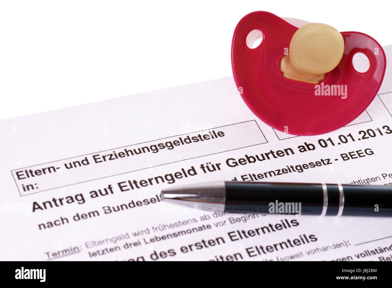 German Application for parental benefits - Stock Image