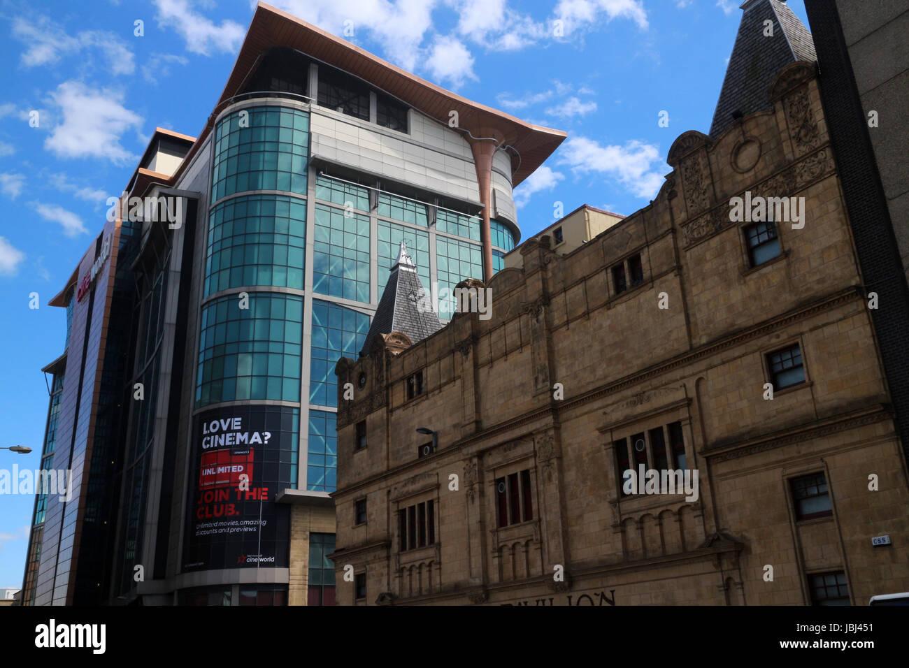 Modern building between Renfrew street, Renfrew Lane and Renfield Street - Glasgow - Scotland - UK - Stock Image