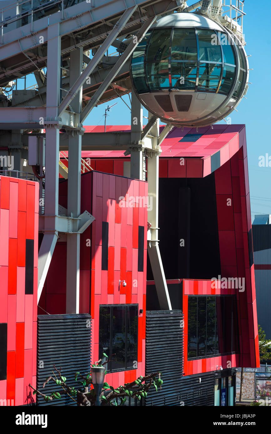Southern Star observation wheel, Melbourne Docklands / Residential and Shopping in Harbour Town.Melbourne Victoria - Stock Image
