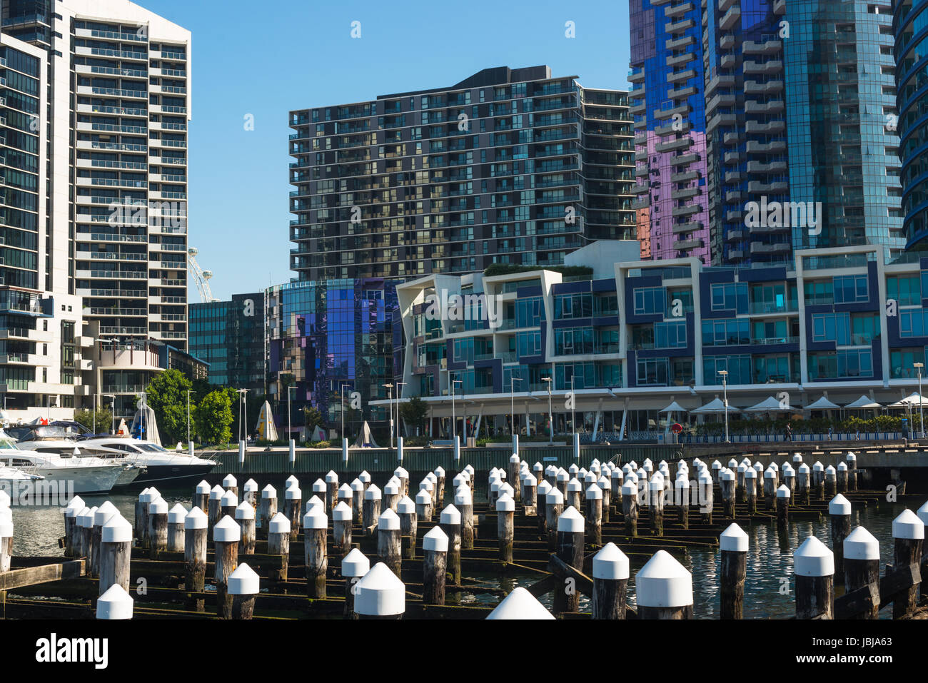 Waterfront City in Melbourne Docklands. Victoria, Australia. - Stock Image