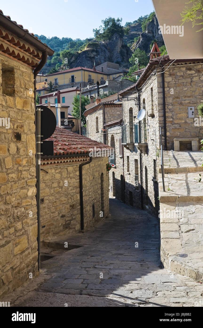 Alleyway. Castelmezzano. Basilicata. Italy. Stock Photo