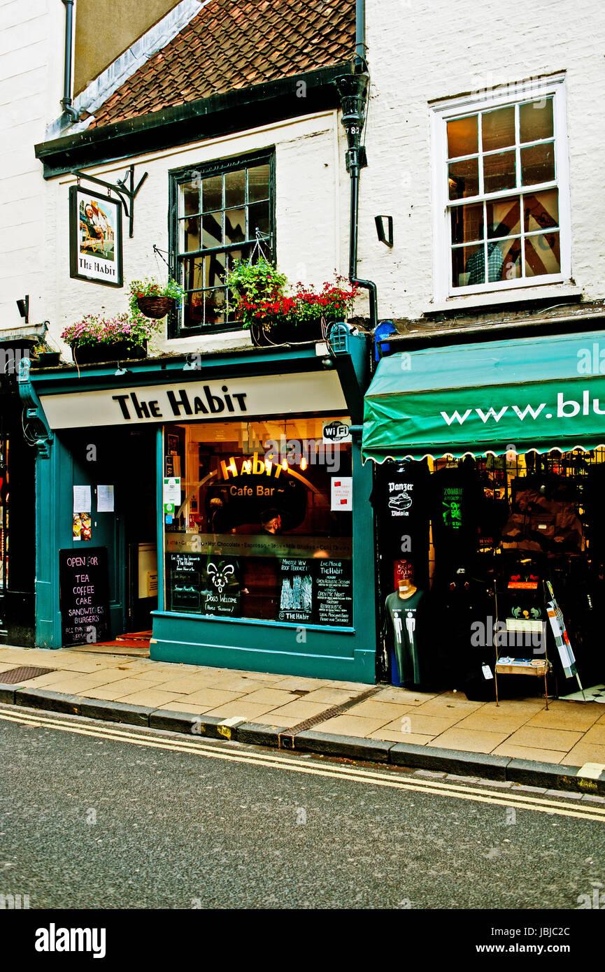 The Habit pub restaurant, Goodramgate. York - Stock Image