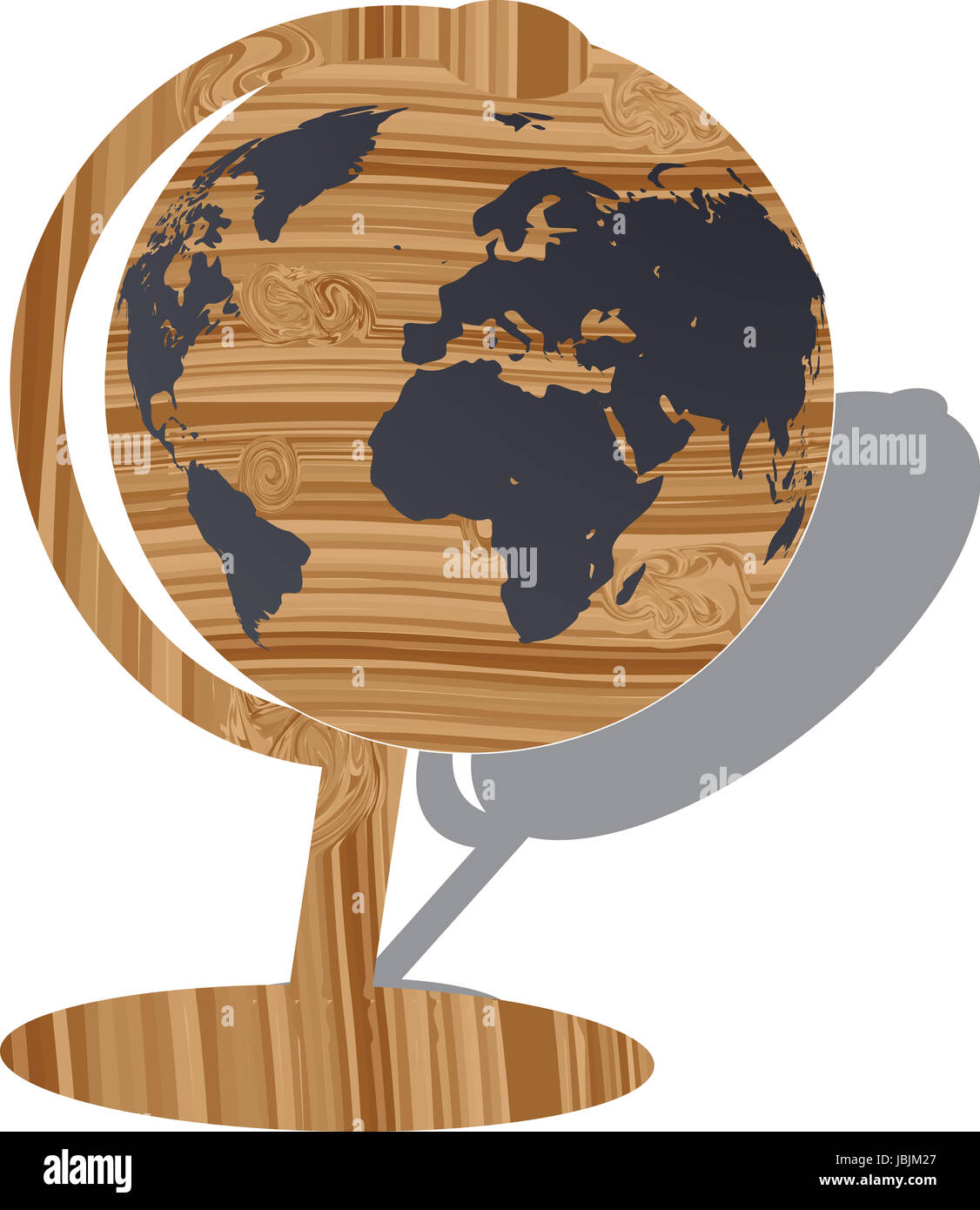 Isolated wooden world map globe vector illustration stock photo isolated wooden world map globe vector illustration gumiabroncs Images
