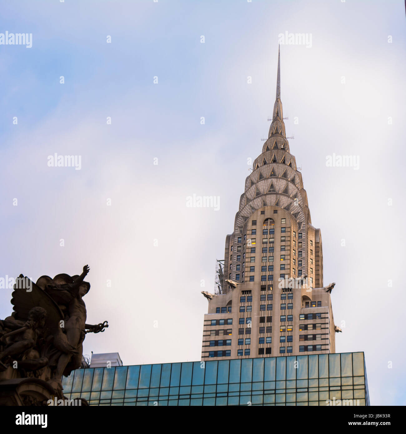 Chrysler Building Construction Stock Photos