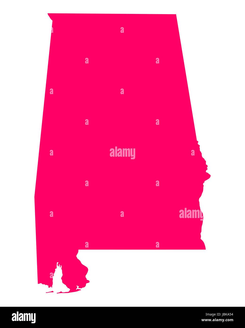 Karte von Alabama - Stock Image