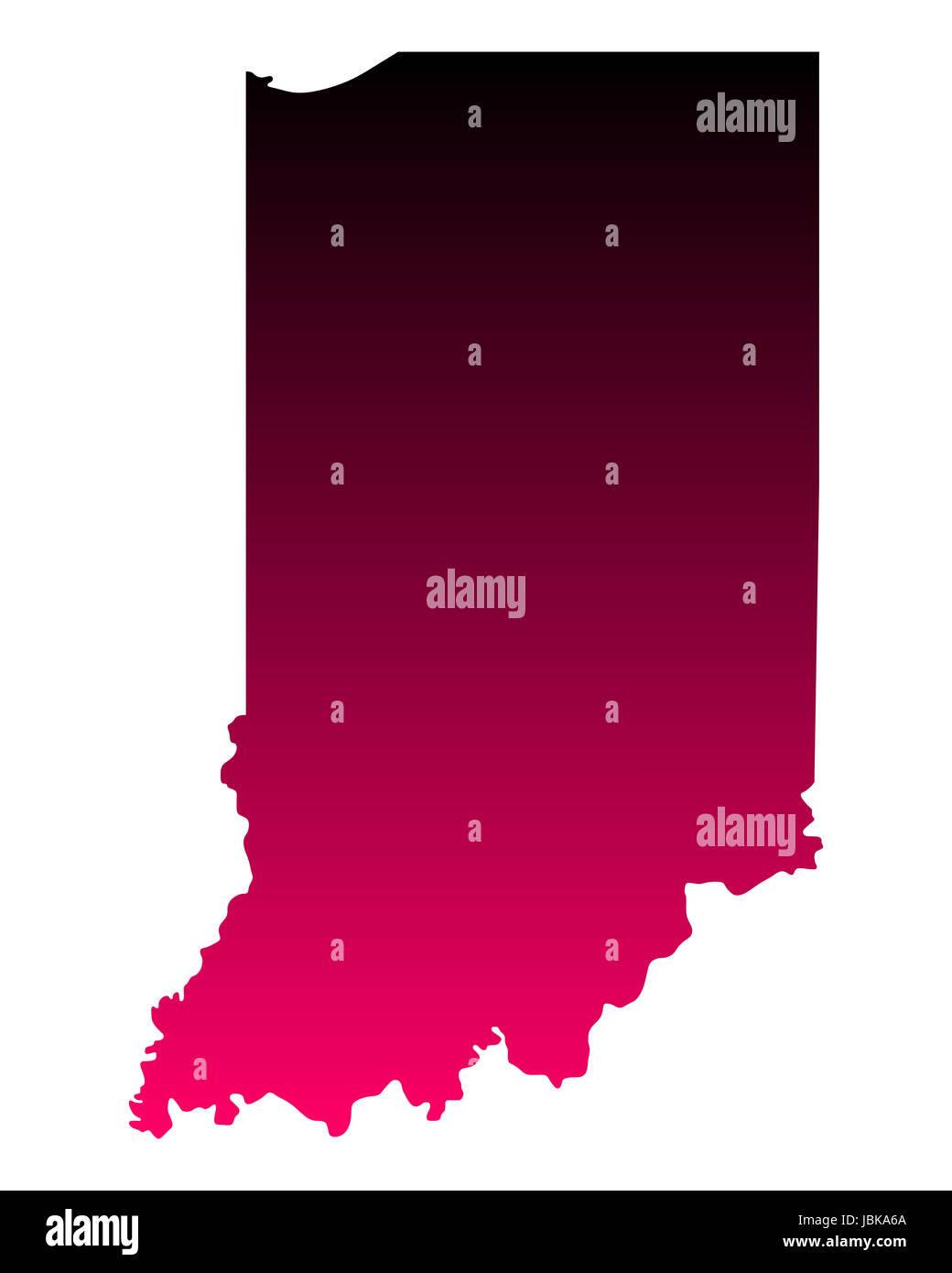 Karte von Indiana - Stock Image
