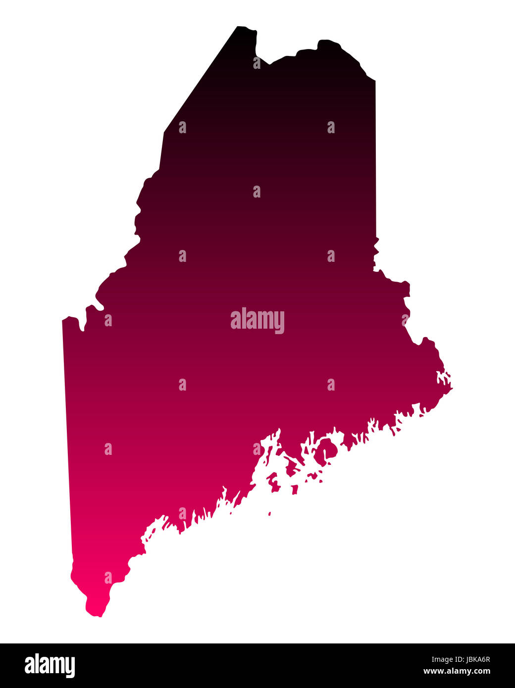 Karte von Maine - Stock Image
