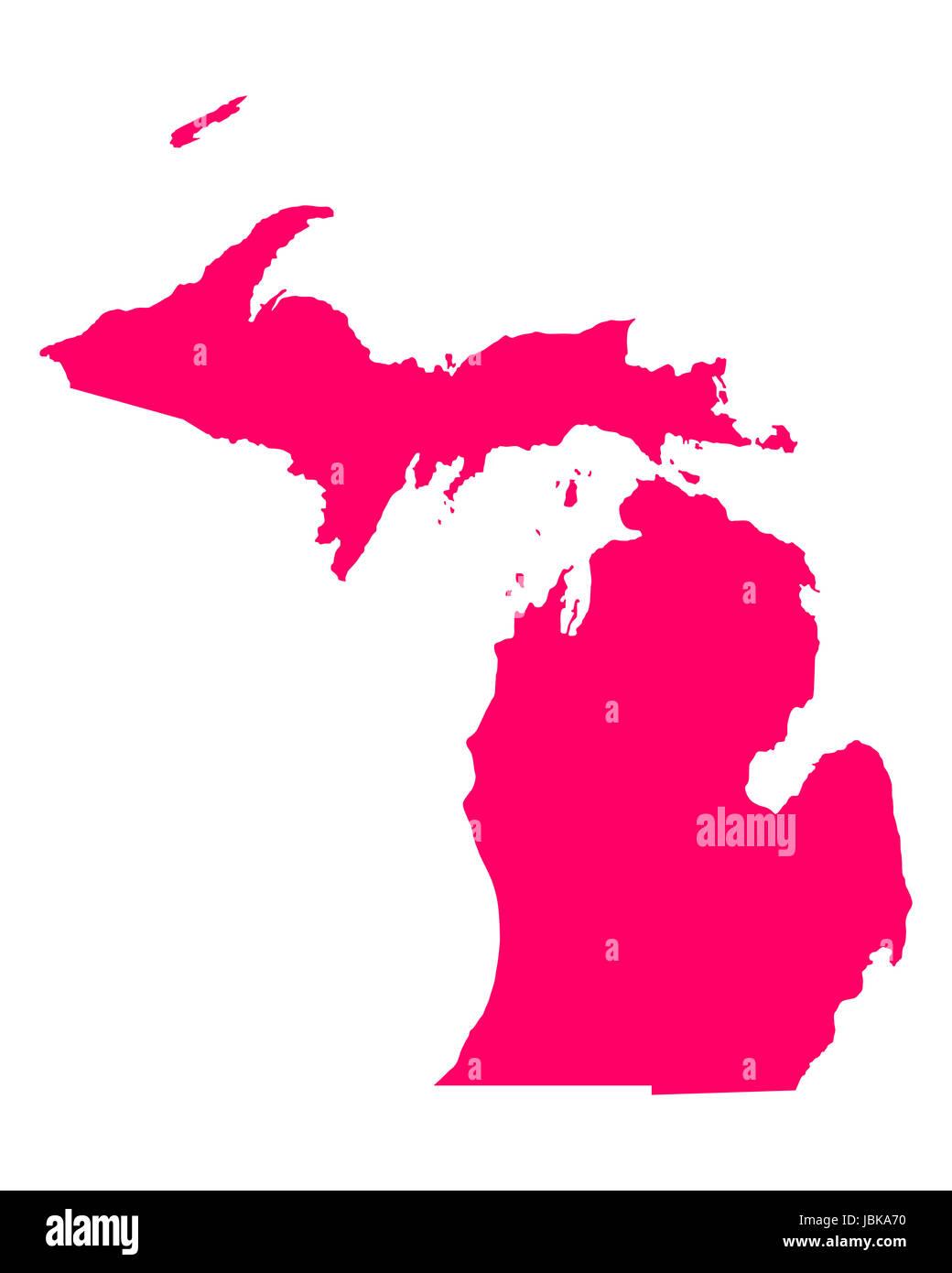 Karte von Michigan - Stock Image