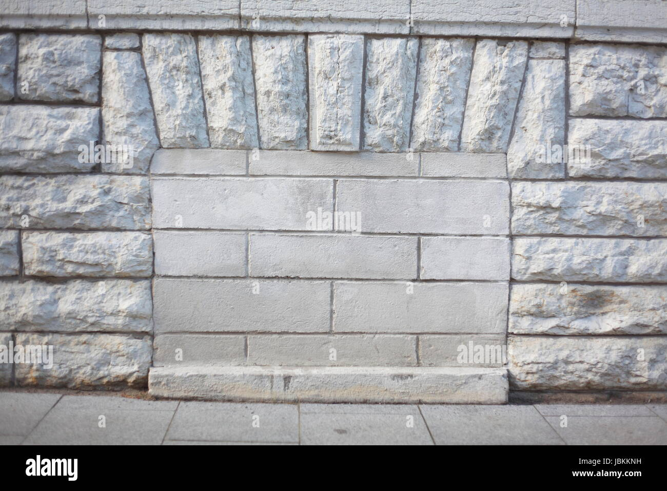Bricked up Cellar Windows, Old KGB Headquarter, Former KGB Building, Tallinn , Estonia, Baltic States, Europe - Stock Image
