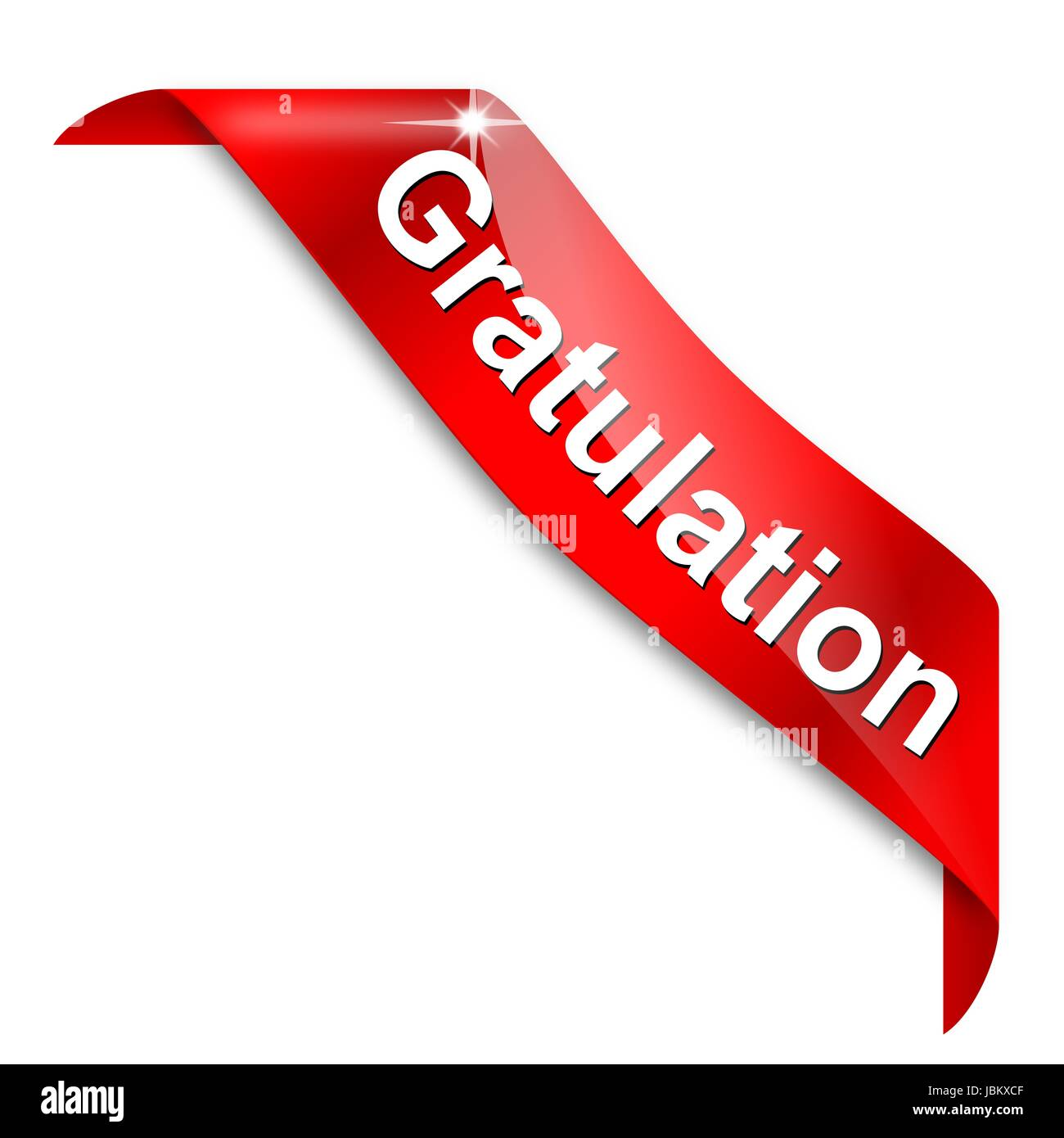 red narrow corner with the word congratulations illustration stock