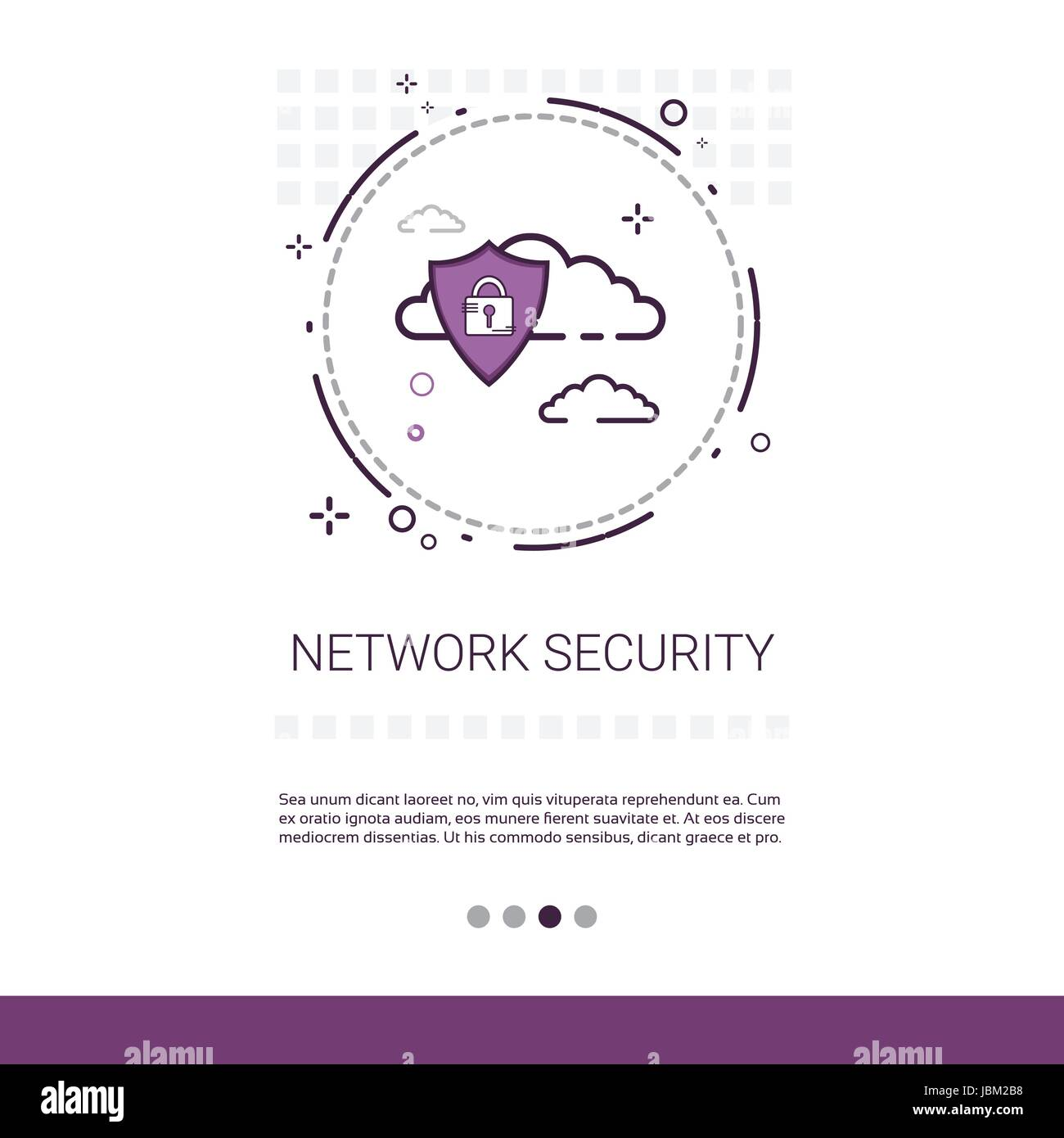 Data Protection Privacy Internet Information Network Security Web Banner With Copy Space - Stock Image