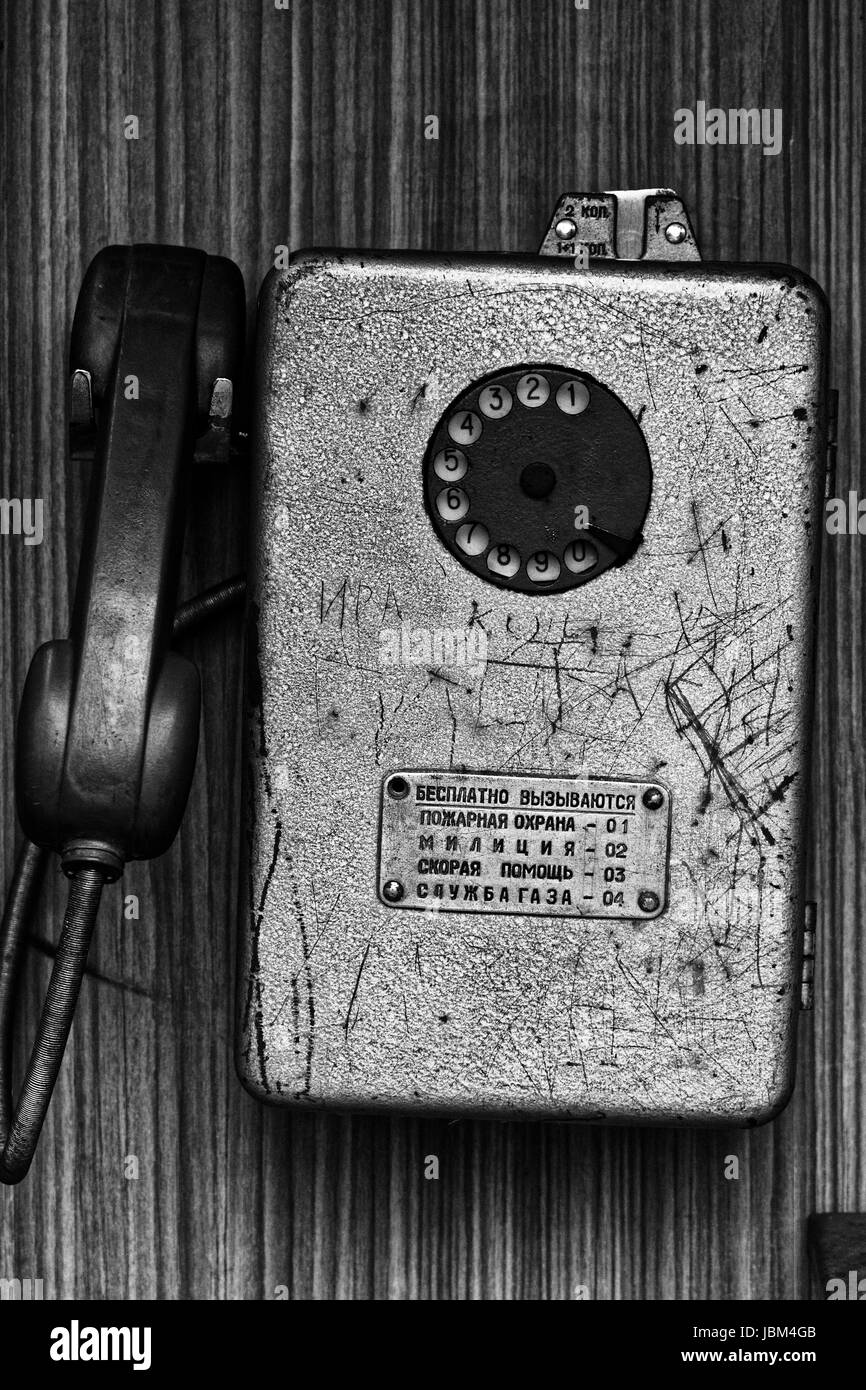 Photo old Taksofon, automatic telephone, - Stock Image