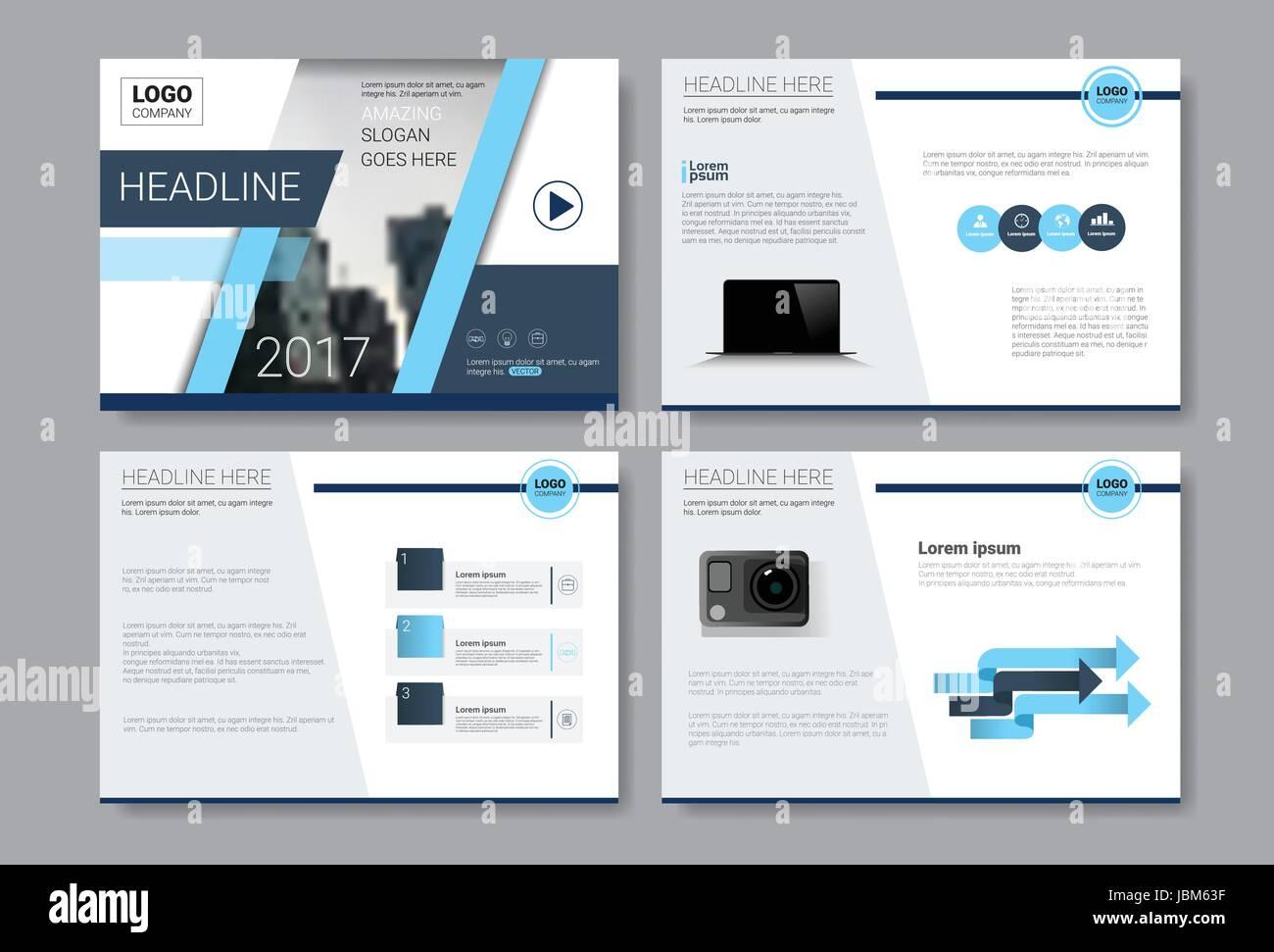 Template Design Brochure Annual Report Magazine Poster Corporate Presentation Portfolio Flyer Set With Copy Space