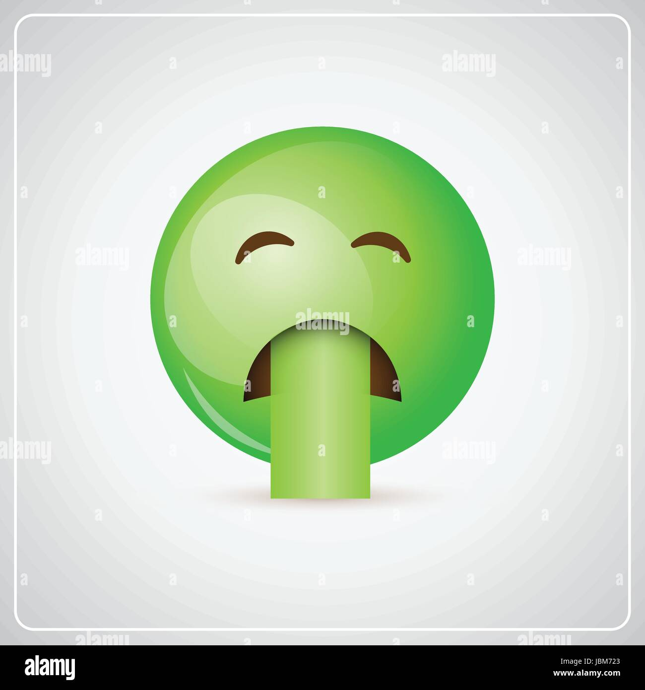 Green cartoon face sick feeling bad people emotion icon stock vector green cartoon face sick feeling bad people emotion icon thecheapjerseys Image collections