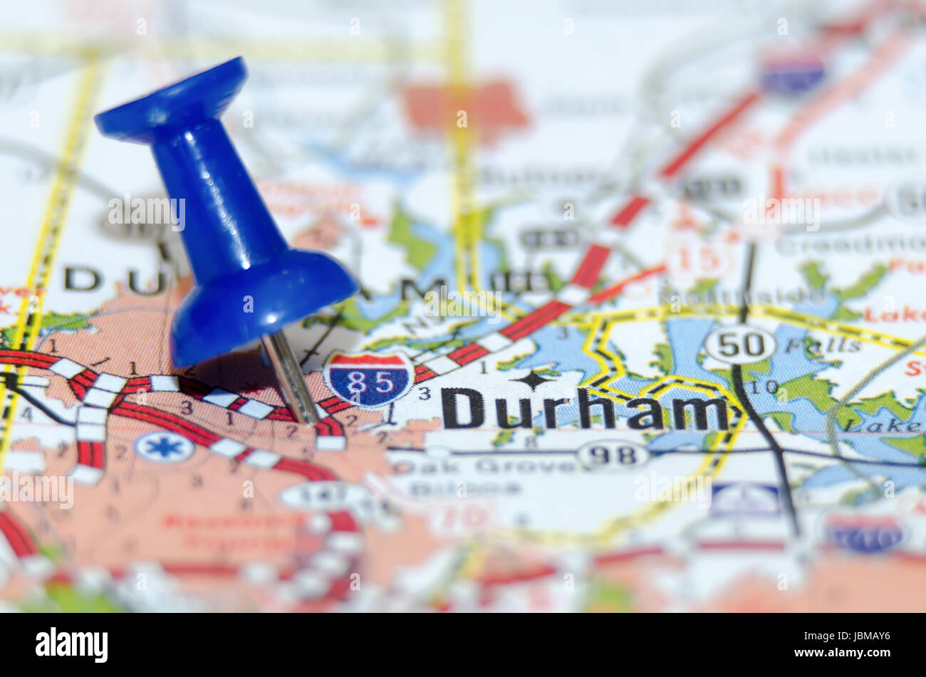 Durham City Pin On The Map Stock Photo 144891802 Alamy