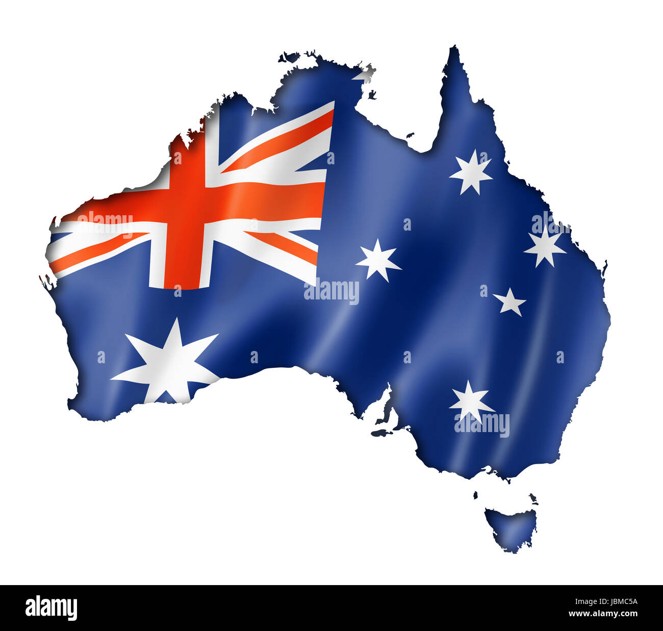 Australia Map With Flag.Australian Map Flag 3d Render Stock Photos Australian Map Flag 3d